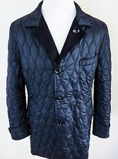 $5430 TOM FORD Rare Blue Reversible Coat Overcoat Topcoat Size 54 Euro 44 US
