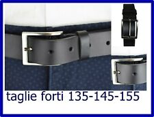 cintura cinture cinta cinte da uomo vera pelle cuoio nera elegante 130 145 155