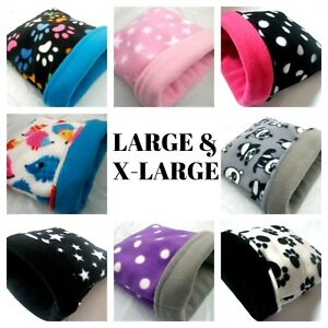 **20 DESIGNS**COSY LARGE & XL FLEECE GUINEA PIG BED POUCH SMALL ANIMALS HEDGEHOG