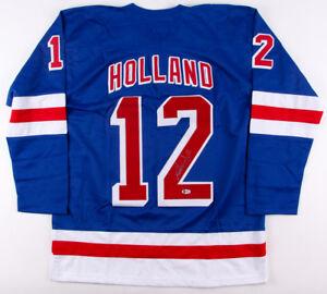 Peter Holland Signed Rangers Jersey (Beckett COA) Current New York Center