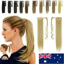 Wrap Around Clip In Ponytail Hair Extensions Pony Tail Straight Hair Piece BN89