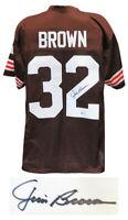 Jim Brown Cleveland Browns Signed Brown Custom Football Jersey - Beckett COA