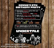 Undertale - Video Game - Birthday Invitations - 15 Printed W/envelopes