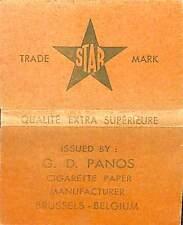 BRUXELLES PAPIER CIGARETTES PAPER STAR ETS PANOS