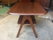 Compact Retro Solid Teak A Frame Style Coffee Table