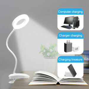 LED USB Clip On Flexible Desk Lamp Dimmable Memory Bed Read Table Study Light