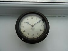 Vintage Smiths Car Dashboard Clock, Mounted in Wooden Paque Frame