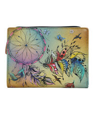 Anna by Anuschka Sweet Dreams  Hand - Painted  Leather Wallet  NWT