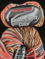 (83 €/ kg): 500 g Austermann BAMBOU SOFT COLOR, braun/grau/rot #2736