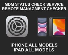 MDM, Remote Management Status Check Service For iPhone, iPad, iPod