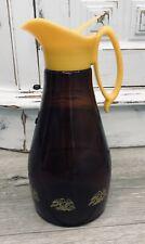 New listing Vintage Syrup Dispenser Amber Brown Eagle Pitcher Design