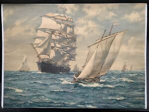 Montague Dawson Clipper Ship Original 1930's Frost & Reed Print 69 cm x 50 cm