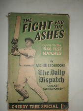 The fight for the ashes by Archie Ledbrooke 1948 Criquet
