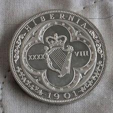 IRELAND 1901 EDWARD VII HM SILVER PROOF PATTERN MODEL 48 PENCE