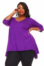 Womens Purple Plus Size 4X Tunic Top Asymmetrical WearOrGoBare