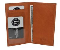 GENUINE LEATHER BASIC CHECKBOOK COVER TAN NEW GREAT GIFT IDEA