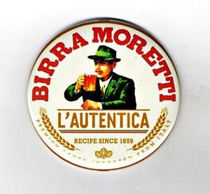 """Birra Moretti Jumbo Fridge Magnet Beer Mat Bar Lager  3"""" 75mm Blade Sub Badge"""