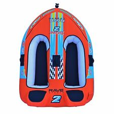 RAVE Sports Tirade II Inflatable 2 Person Rider Towable Boat Water Tube Raft