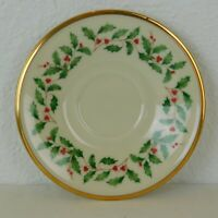 "Lenox Holiday Christmas 2019 Holly Berry Dimension Collection Saucer 6"" Replace"