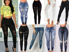 WOMENS HIGH WAISTED  DENIM STRETCHY SKINNY JEANS LADIES JEGGINGS PANTS  8-24