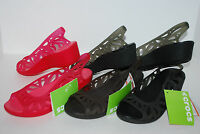 NEW NWT CROCS ADRINA III MINI WEDGE BLACK PINK ESPRESSO BROWN 5 6 7 8 9 10 shoes