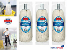 More details for 3 extra large heavy duty cotton floor mop twine head refill metal socket size 20