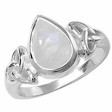 Moonstone Solitaire Sterling Silver Fine Rings