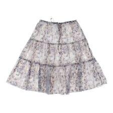 sahalie Women's Skirt, size S,  beige, white,  cotton