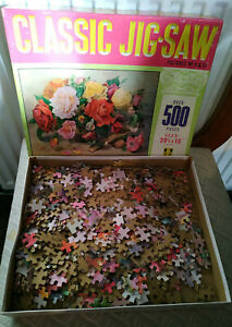 RM65) Tower Press Jigsaw dated 1960 in greeting No. 12 Summer Roses (unchecked)