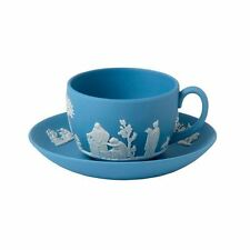 Wedgwood Jasperware Teacup and Saucer in Pale Blue New