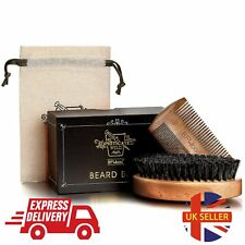 BFWood Beard Brush With Boar Bristle And Comb Set - Military Style-Men Boar Kit