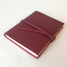 RUSTICO Venture Notebooks Leather Journals w/ Strap and Dot Grid Gifts Burgundy
