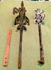 2 Antique Roof Finials 1860's Salvage Primitive Victorian Collectible Original