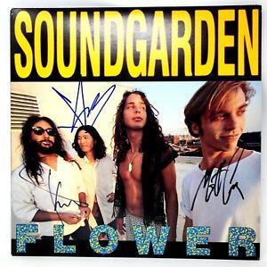 """CHRIS CORNELL +2 Signed Autographed SOUNDGARDEN """"FLOWER"""" Album LP JSA #Z08629"""