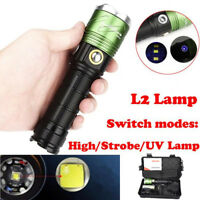 5000Lumen XML L2 LED Scuba Camping Flashlight Fishing Waterproof Flashlight