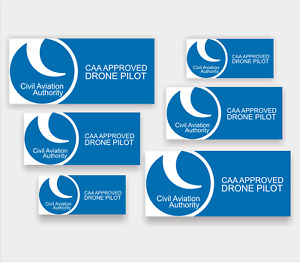6x CAA Drone Pilot Operator stickers - drone, High Quality Laminated