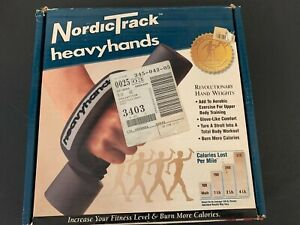 NordicTrack HeavyHands Heavy Hand Weights Set 1lb 2lb 4lb adjustable rare htf