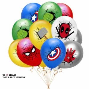 12PCS Avengers Justice League Super Hero Hulk Spider Man Party Latex balloons