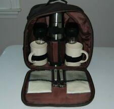 Gevalia Coffee Stainless Steel Thermos & 2 Mugs Picnic Travel Set - 10 Pieces