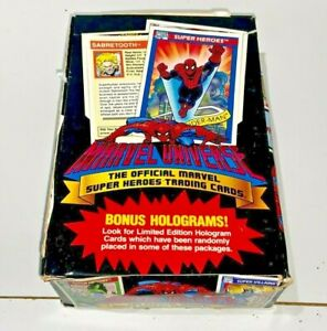 Marvel Universe 1990 Series 1 Box of 36 Sealed Packs Trading Cards