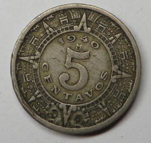 Mexico 5 Centavos 1940M Copper-Nickel KM#423
