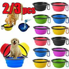 New listing 2/3x Collapsible Bowl Pets Dog Portable Travel Bottle Feeding Dogs Dish Feeder