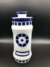 "Vintage Rare Sargadelos Spanish Porcelain Lidded Storage Jar, 9 3/4"" T, 3 3/4"" W"