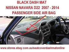 DASH MAT,BLACK DASHMAT, FIT NISSAN NAVARA 2007-2014  D22,  AIRBAG PASSENGER SIDE