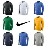 Nike Mens Football T Shirt Jersey Tiempo Long Sleeve Shirts Training Top Size