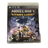 PS3 Minecraft: Story Mode Sony PlayStation 3 2015 Video Game Season Pass Disc