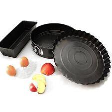 Set di 3 Teglie per Dolci Crostate Plum cake Antiaderente Stampi per Torta 3 Pz