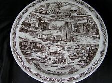 Vintage Vernon Kilns Souvenir Plate of North Dakota, WONDERFUL!