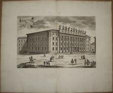 Stampa antica old print Piazza di Pietra Roma Frezza rara 1699 kupferstich