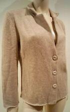 AnneClaire Mujer Beige 100% Cachemir géneros de punto Casual chaqueta de IT46 UK14